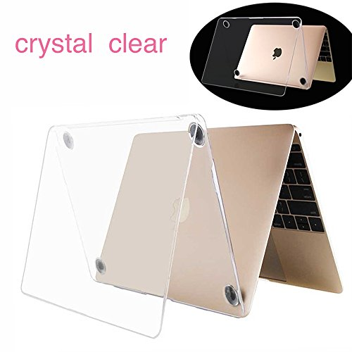 Twinscase Macbook 12 Inch Cases(A1534 ),Ultra Thin Anti-scratch Dustproof Rubberized Macbook Case Glossy Shell Cover for Macbook 12 Inch Retina Display(A1534 )(clear) (Shell Cover Clear)