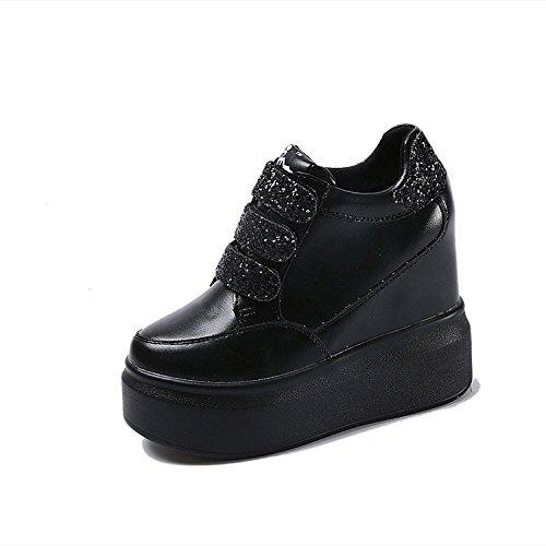 scarpe black inferiore scarpe di sportive tempo spessore la adesivi da le tacchi donna 12cm trentotto del libero GTVERNH scarpe aumento magia di 10 in super SPw7qBSZn