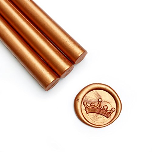 - UNIQOOO Mailable Glue Gun Sealing Wax Sticks for Wax Seal Stamp - Rusty Gold Copper, Great for Wedding Invitations, Cards Envelopes, Snail Mails, Wine Packages, Gift Ideas, Pack of 8