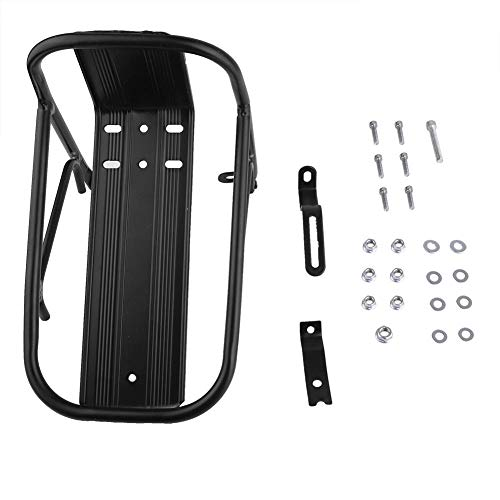 VGEBY1 Bike Front Rack, Durable Aluminum Alloy Bicycle Cargo Rack 10KG Capacity for Bike Front Fender