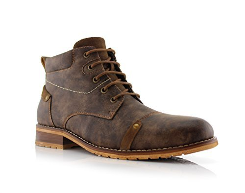 timeless design c02e5 d1afa Ferro Aldo Colin MFA806033 Men's Stylish Mid Top Boots for Work Or Casual  Wear