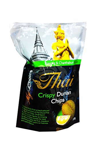 Crispy Durian Chips, Delicious Fruit Snack From My Choice Thai Brand, 4 or 5 Strar Otop Rating Approved. (100 G/ Pack)