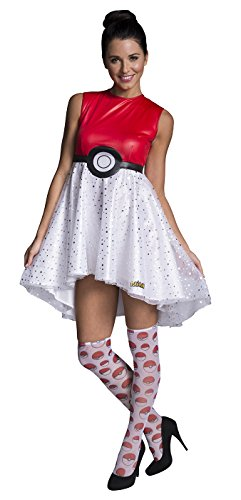 Rubie's Women's Pokemon Pokeball Costume Dress, Multi, Large