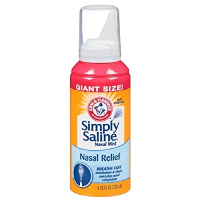 Simply Saline Adult Nasal Mist, Original Giant Size, 4.25-Ounce