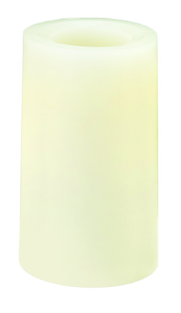 Sterno Products 60142 6'' Cream Programmable Flameless Real Wax Pillar Candle - 6-Pack by Sterno