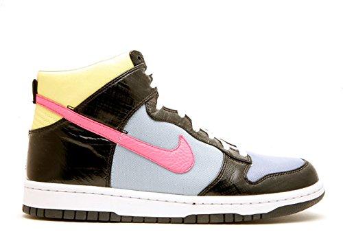 Nike Womens Dunk Hi Premium Black / Dark Pink- Purple Frost Us 12 M