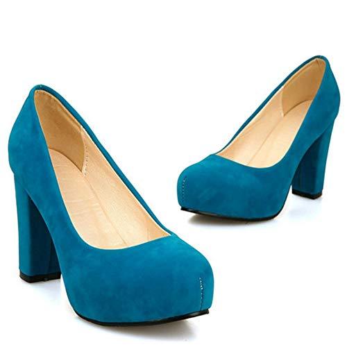 2 Lydee Piattaforma Donne Basic A Blocco Pumps blue Tacchi n0rPU4qw0