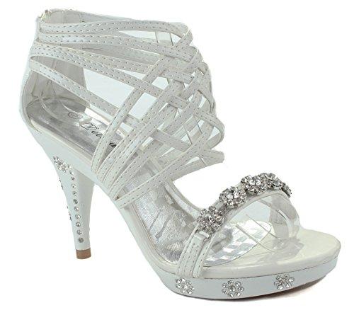 8 US White Shoe M Womens Teresa 27 Party D Delicacy 71Uqn