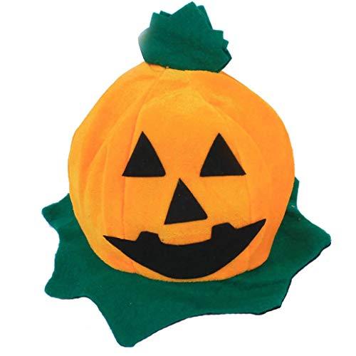 Yezijin Cos Halloween Pumpkin Hat Pumpkin Motifs Lint Top Orange Hats (C) -