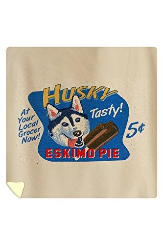husky-eskimo-pie-retro-ad-88x88-queen-microfiber-duvet-cover