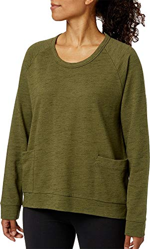 Field & Stream Women's French Terry Pullover Shirt,(Olive NGHT,XX-Large)