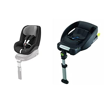 Maxi-Cosi Pearl Car Seat + EasyFix Base (Black Raven): Amazon.co.uk