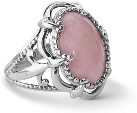 Carolyn Pollack Sterling Silver Pink Opal Bold Ring