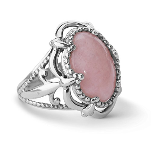 Carolyn Pollack Sterling Silver Pink Opal Bold Ring Photo #1