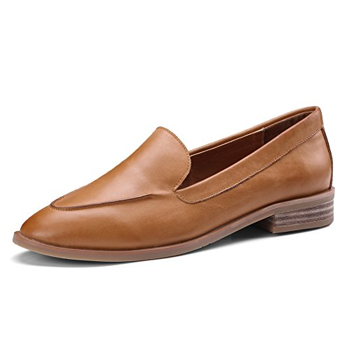 ONEENO Women's Casual Leather Loafers