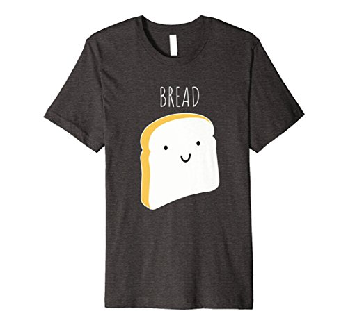 Mens Funny Halloween Couples Shirt - Bread Small Dark Heather