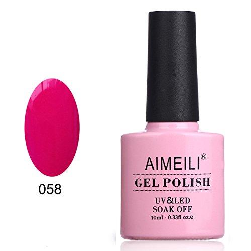 AIMEILI Soak Off UV LED Gel Nail Polish - Neon Cranberry  10