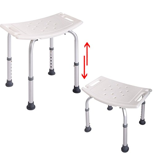 JAXPETY 6 Height Adjustable Bath and Shower Seat Top Rated Shower Bench by JAXPETY (Image #1)