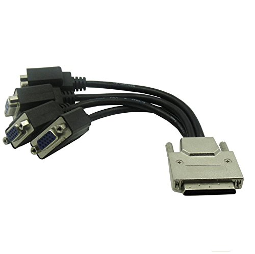VHDCI Breakout Cable&Adapter-VHDCI(SCSI 68Pin) M to 4-Port VGA Female Splitter Breakout Cable for NVIDIA and VisionTek Graphics ()