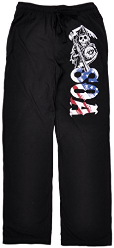 Sons Of Anarchy Pajama Pants Black Small