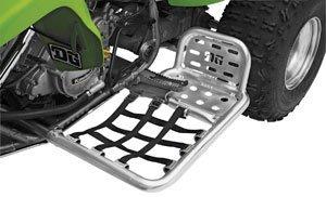 DG Performance 607-8450 - Alloy Nerf Bars with Heel Guard - Aluminum fits Kawasaki KFX 450 (2008 - 2010)