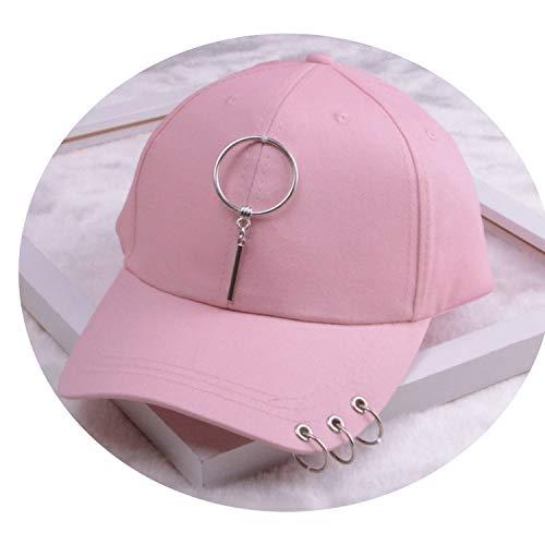 女性 リング野球帽 男性女性 白黒 野球の帽子,ピンクを描く