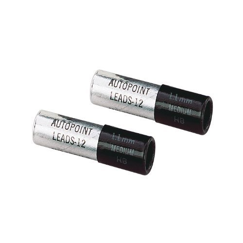 (Autopoint® Replacement Leads, (2)Tubes (12 sticks per tube), 1.1mm, Black HB(medium) (81120))