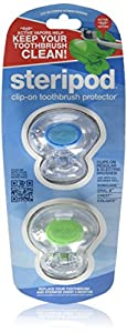 steripod ENE03-BRK Toothbrush Protector Dual Pack  (Assorted Colors)