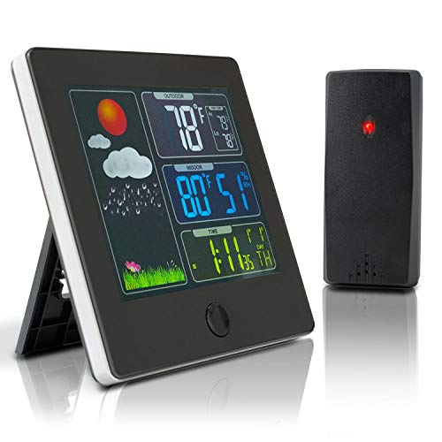 Sabanec Weather Stations Wireless Thermometer Indoor Outdoor