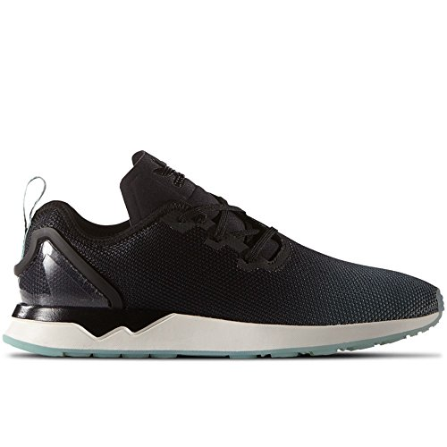 adidas - ZX Flux Adv Asymmetric - S79055 - Color: Black-White-Blue - Size: 7.5