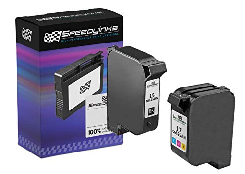 Speedy Inks Remanufactured Ink Cartridge Replacement for HP 15 & HP 17 (1 Black, 1 Color, 2-Pack)