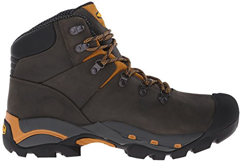 Keen Utility Mens Cleveland Soft Toe Engineer Boot, Raven/Inca Gold, 7.5 D US