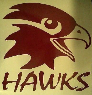 Hawks Cornhole Decals - 2 Cornhole Decals