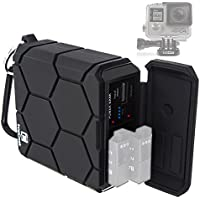 GoPro HERO4 Black / Silver Portable Outdoor Charger for Dual Battery (AHBBP-401, AHDBT-401) - 5200mAh Rechargeable Power Bank - Waterproof Shockproof Rugged - 5V/2.1A USB Output for Phone, Tablet