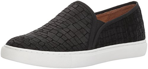 Opportunity Shoes - Corso Como Women's Skipper Sneaker, Black Textured Leather, 10 Medium US
