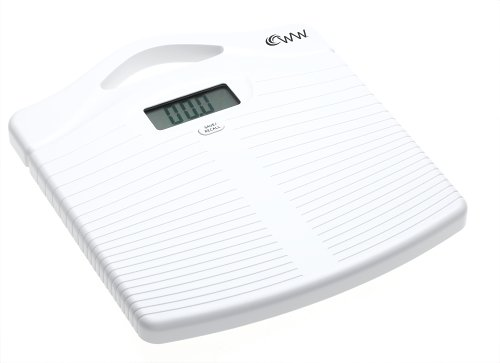 Weight Watchers Scales by Conair Portlable Precision Electronic Scale; White