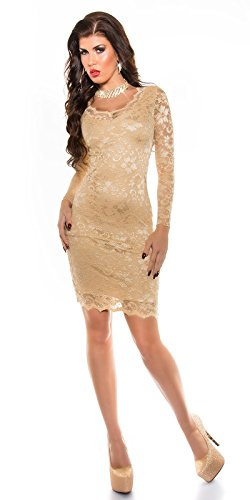 In-Stylefashion - Vestido - para mujer champán