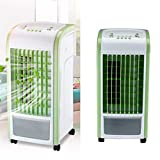 Dirance 4 in 1 Mini Portable Personal Desktop Air Conditioner Fan Super Quiet Air Evaporation Circulator Cooler Air Humidifier Office Dorm (Green)