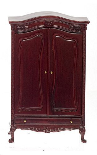 Platinum Collection Dollhouse Miniature Chateau Lorraine Wardrobe Mahogany #P3009