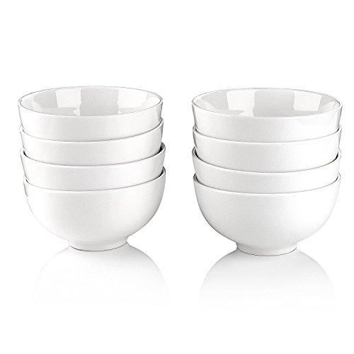 5 Inch Bowl - Malacasa 8 Piece Series Regular, Porcelain Cereal Bowls Ceramic Soup Rice Bowls, 5