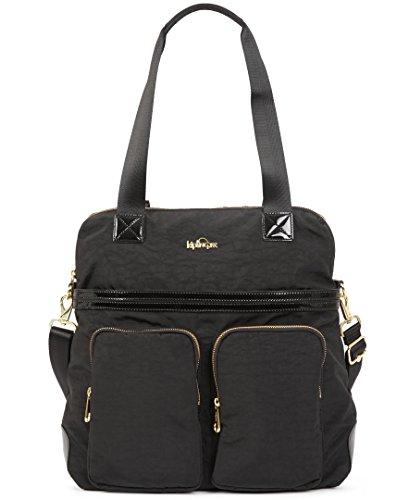 Kipling Camryn Solid Laptop Handbag, Black Patent Combo