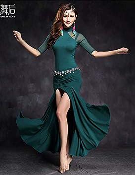 161de909316ae Wanson Professional Women Belly Dance Dress Belly Dance Practice Dress Big  Swing Skirt Indian Dance Performance