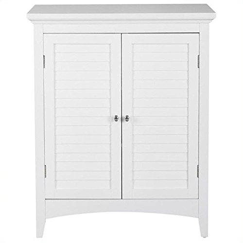 Elegant Home Fashions ELG-5 Slone Floor Cabinet with Two Shutter Doors White