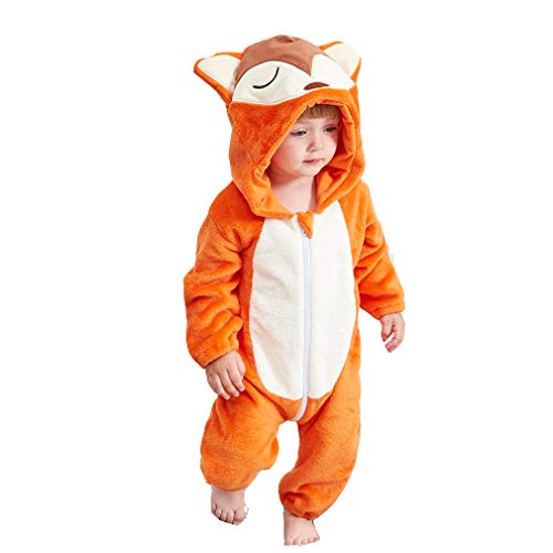 Unisex Kids Baby Fox Halloween Costumes Cartoon Outfit One Piece Homewear 80