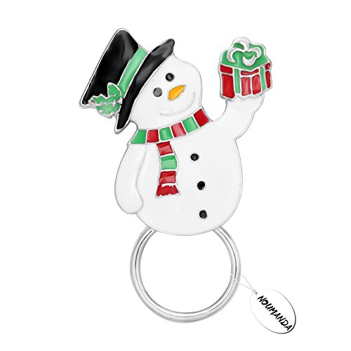 NOUMANDA Snowman Eyeglass Holder Design Silver Plated Magnetic Brooches Pin Jewelry