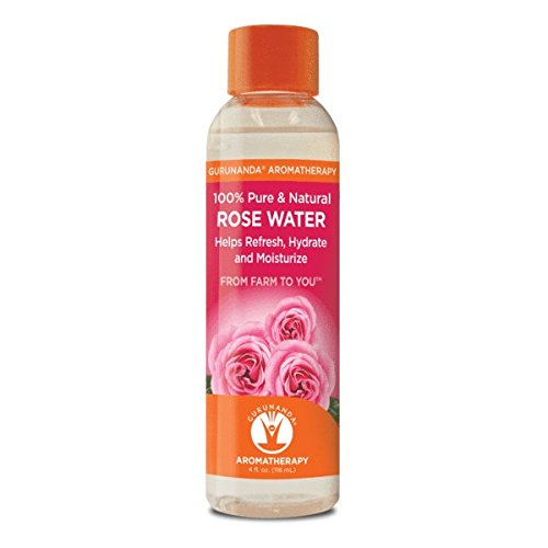 100% Pure Rose Water - Rosewater Hydrosol - Helps Refresh, Hydrate, and Moisturize. Beautiful Fresh Fragrance - Perfect Facial & Skin Toner & Moisturizer (Home Fragrance Rosewater)