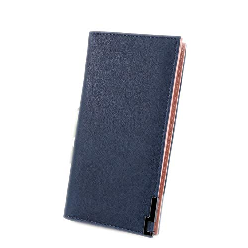Women Wallets Lady Wristlet Handbags Long Money Bag Zipper Coin Purse Cards ID Woman Wallet,Blue ()
