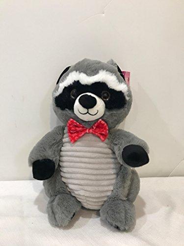"11"" Stuffed Plush Cuddly Racoon with Valentine Bow Tie XOXO -  HugFun International, 993928"