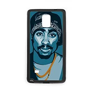 2015 New Hot Rapper Singer Tupac Amaru Shakur Cool Man Design Hard Protective Back Cover Shell for SamSung Galaxy Note4 Phone Case-2