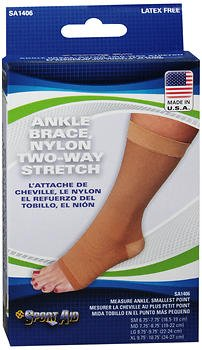 Sport Aid Ankle Brace Large Beige SA1406 - 1 brace, Pack of 6 by SportAid